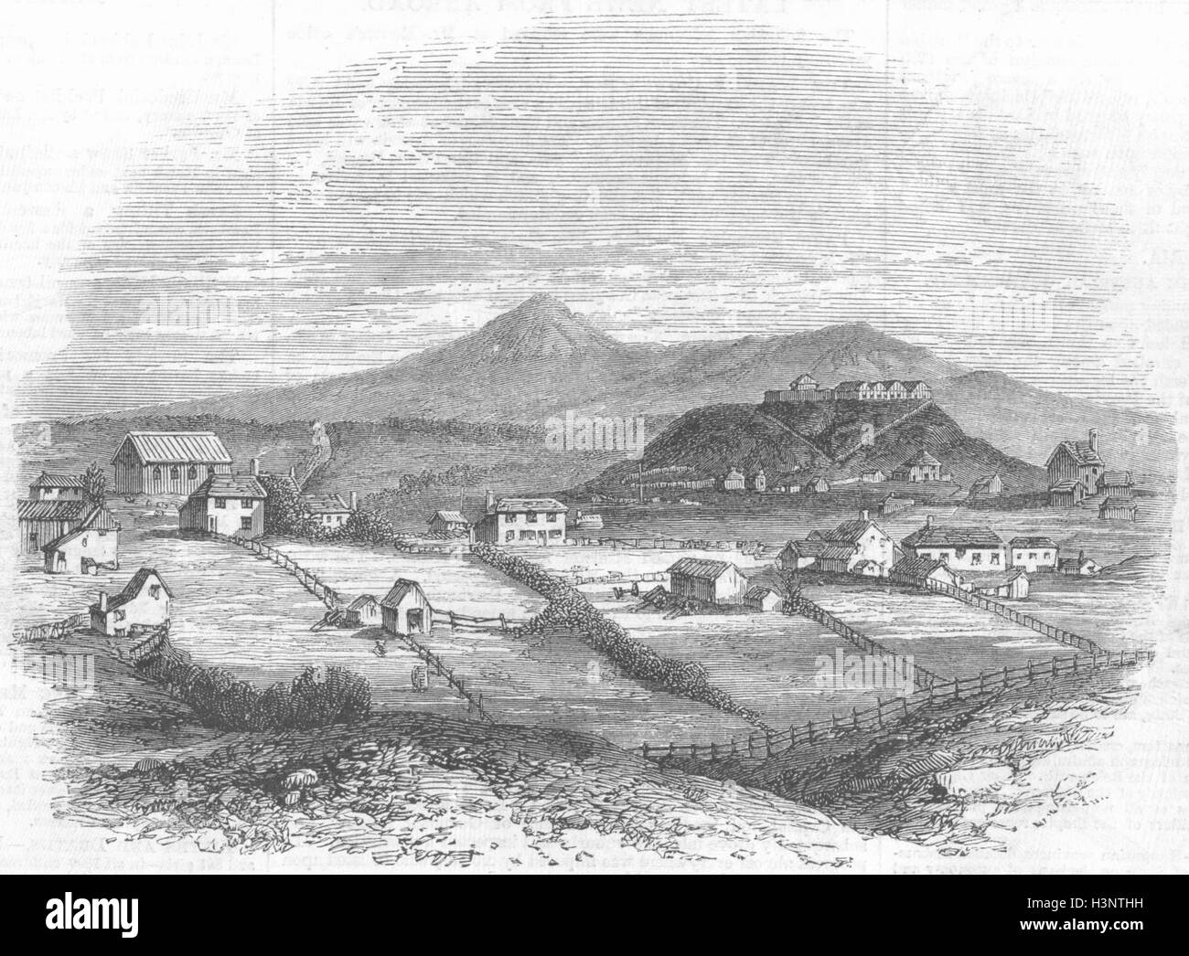 NEW ZEALAND Taranaki(Plymouth)North Island 1860. Illustrated London News - Stock Image