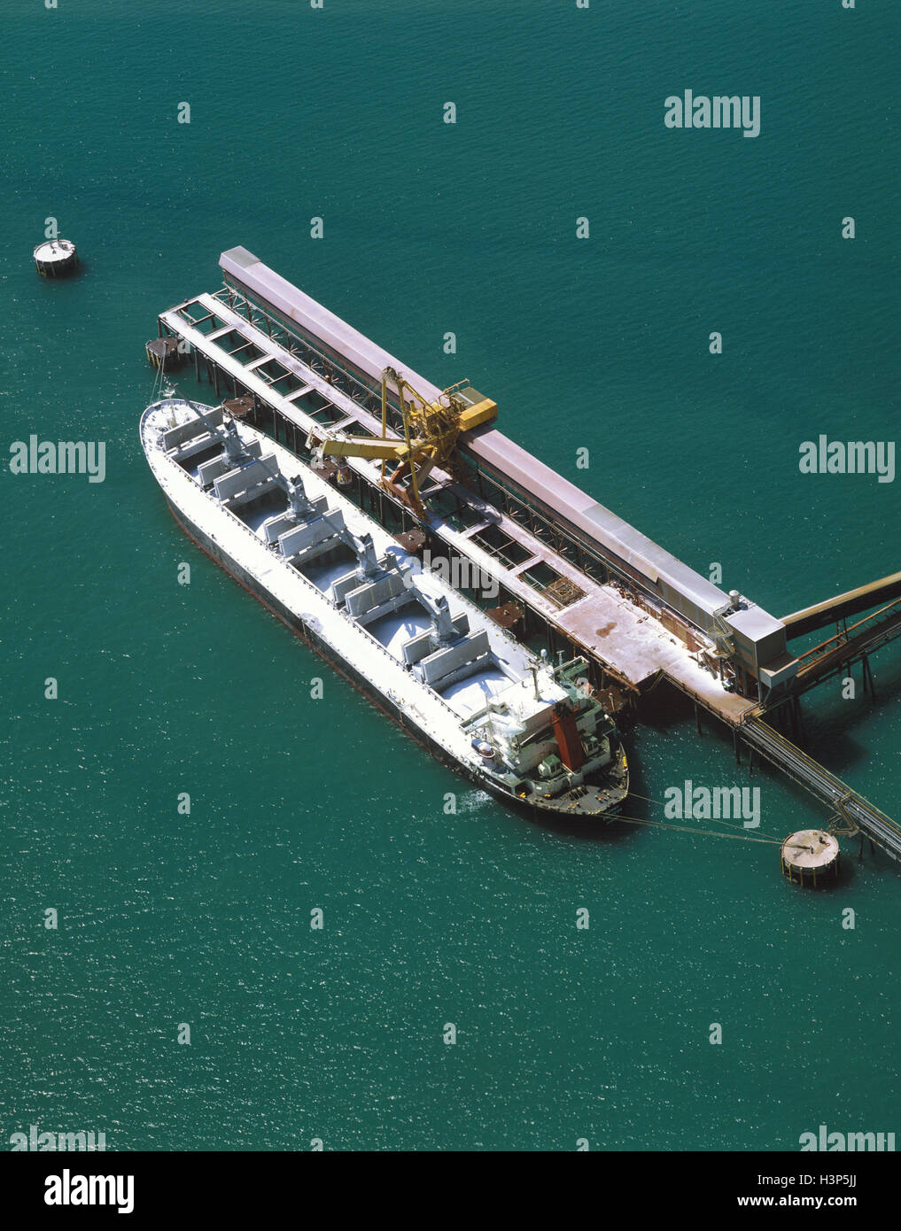 Aluminium carrier ship - Stock Image