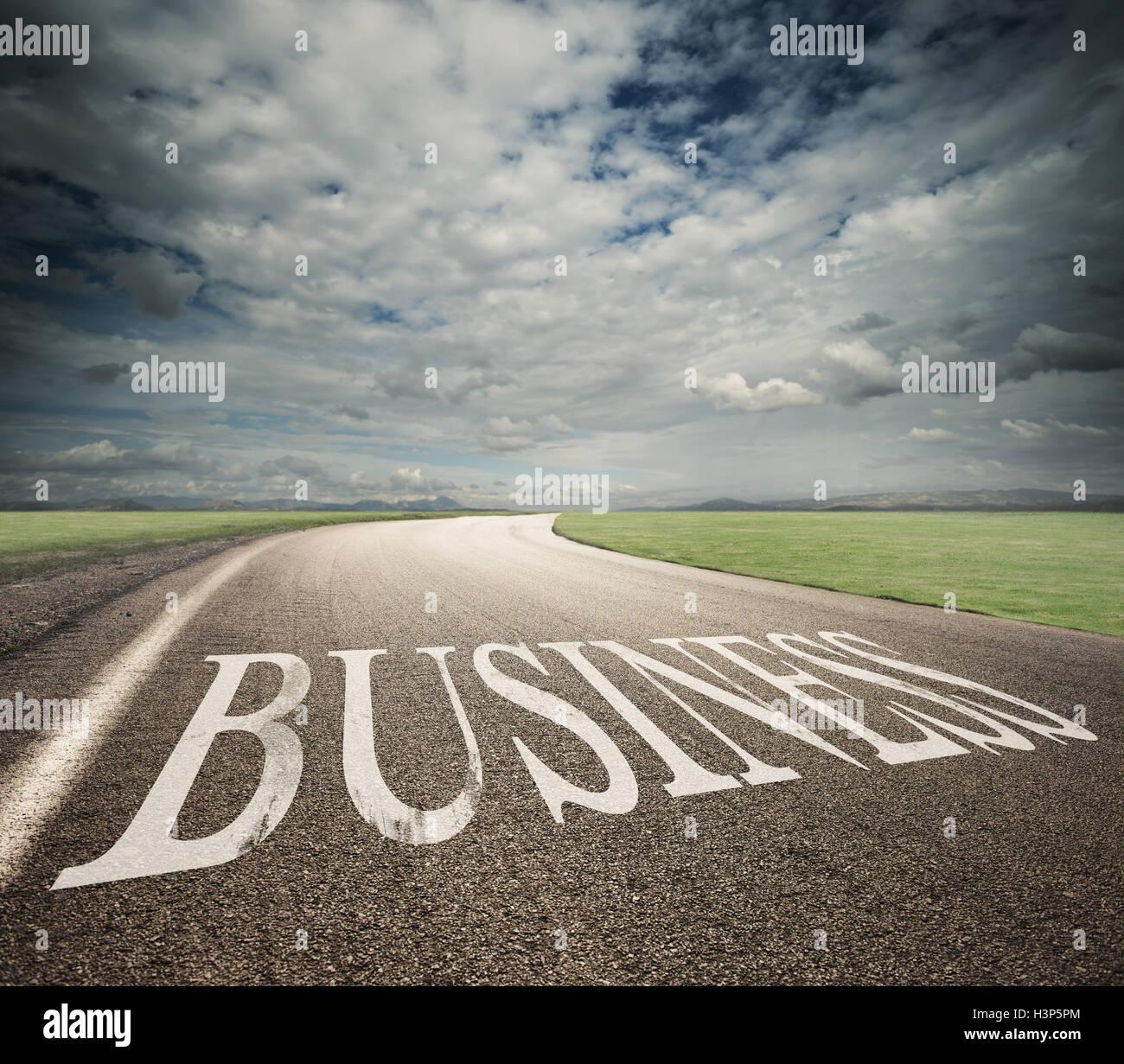 Business way - Stock Image
