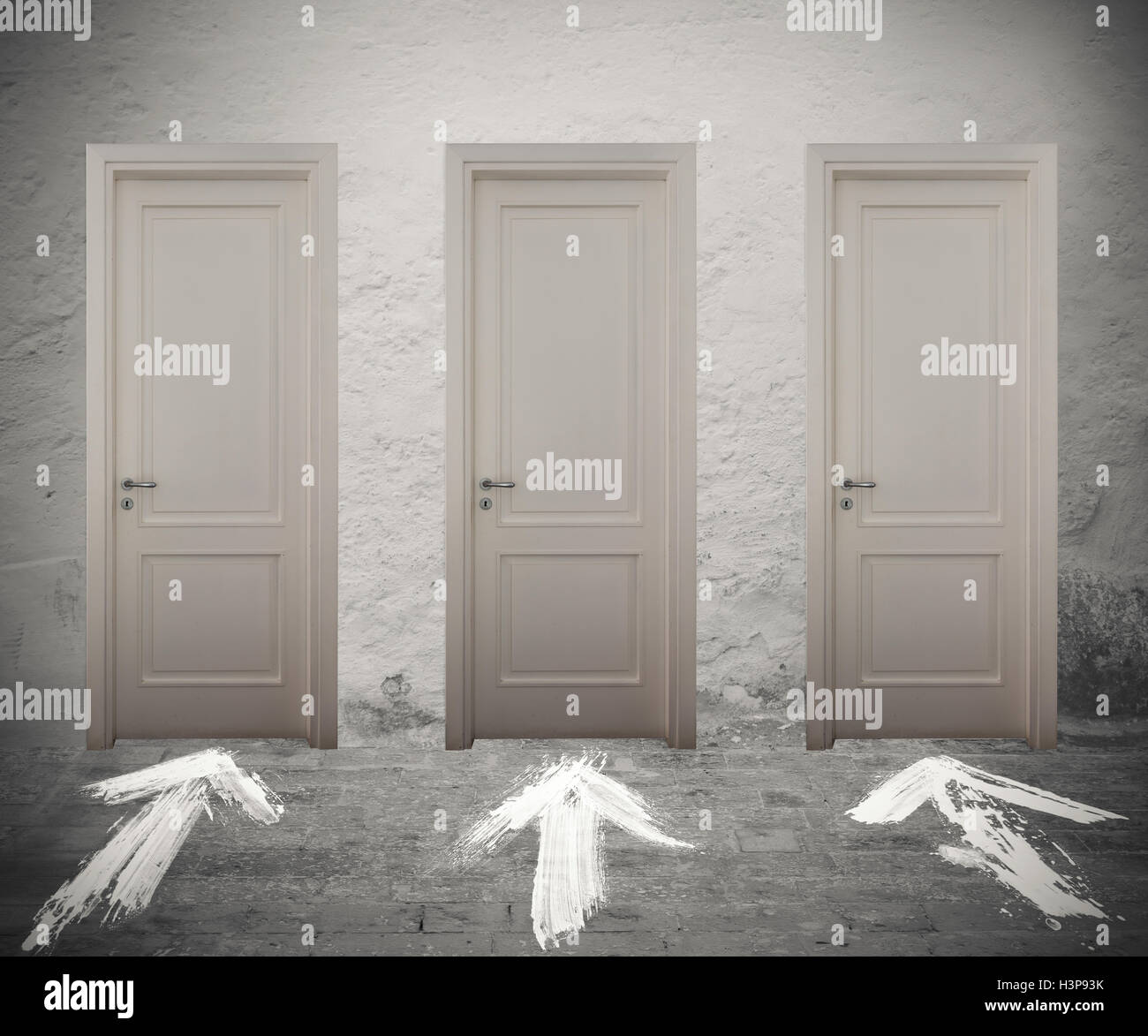 Choose the right door - Stock Image