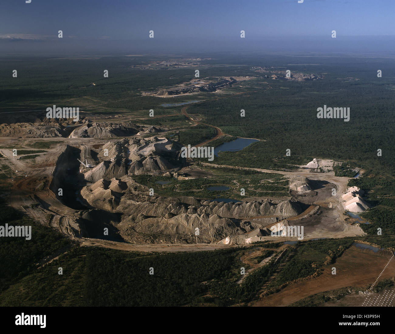 Blackwater open-cut coal mine, - Stock Image