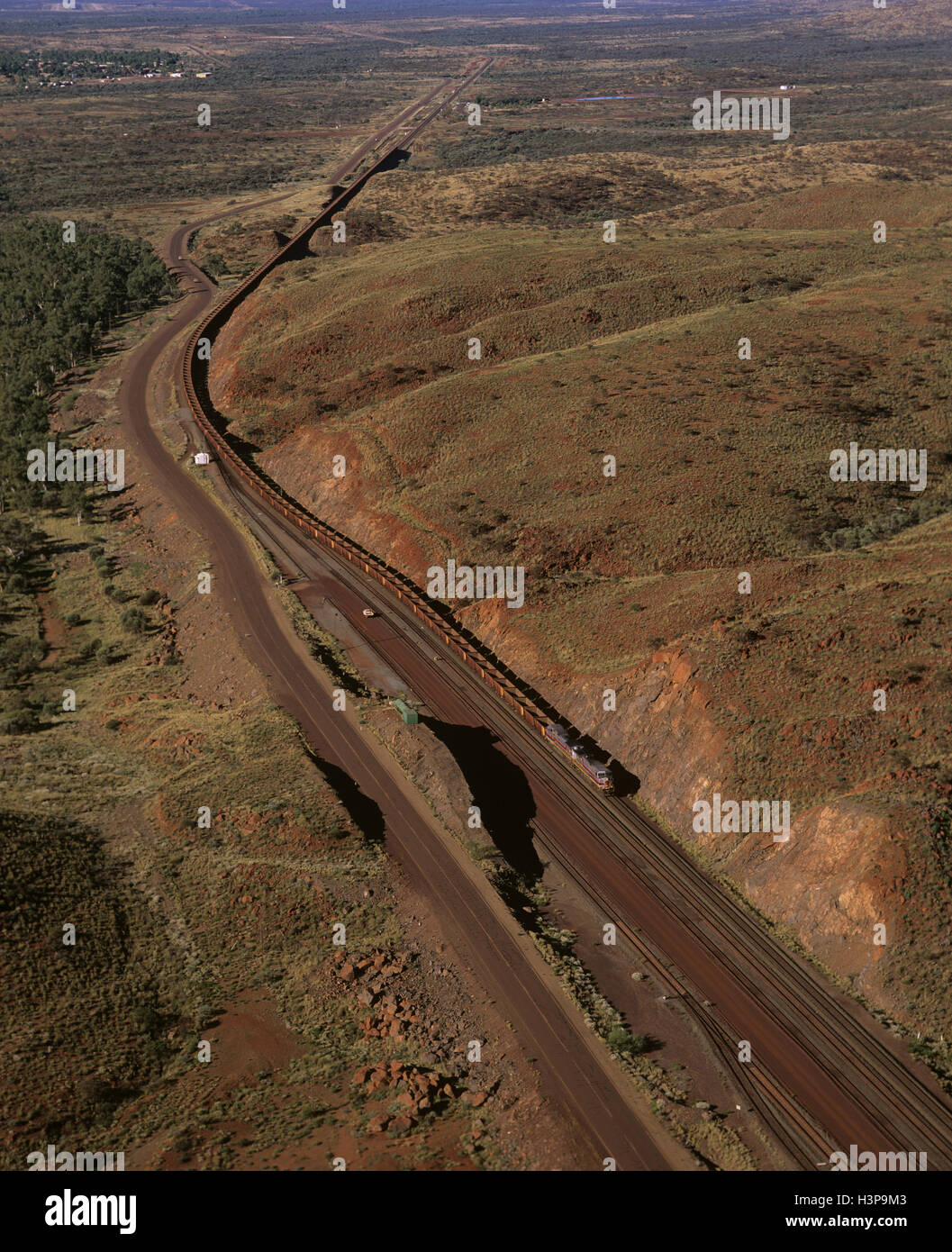 Iron ore train - Stock Image