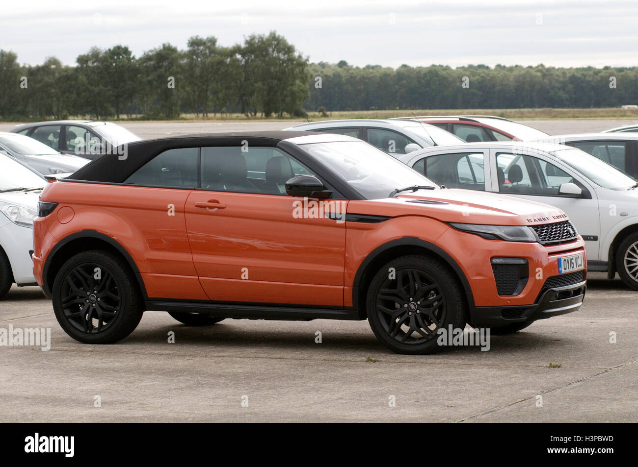 range rover evoque soft top convertible - Stock Image