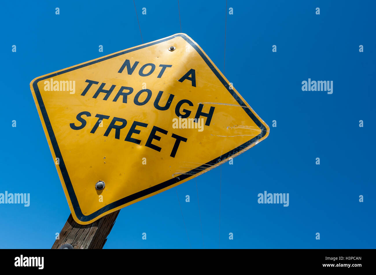 Traffic signage in eastern California - Stock Image
