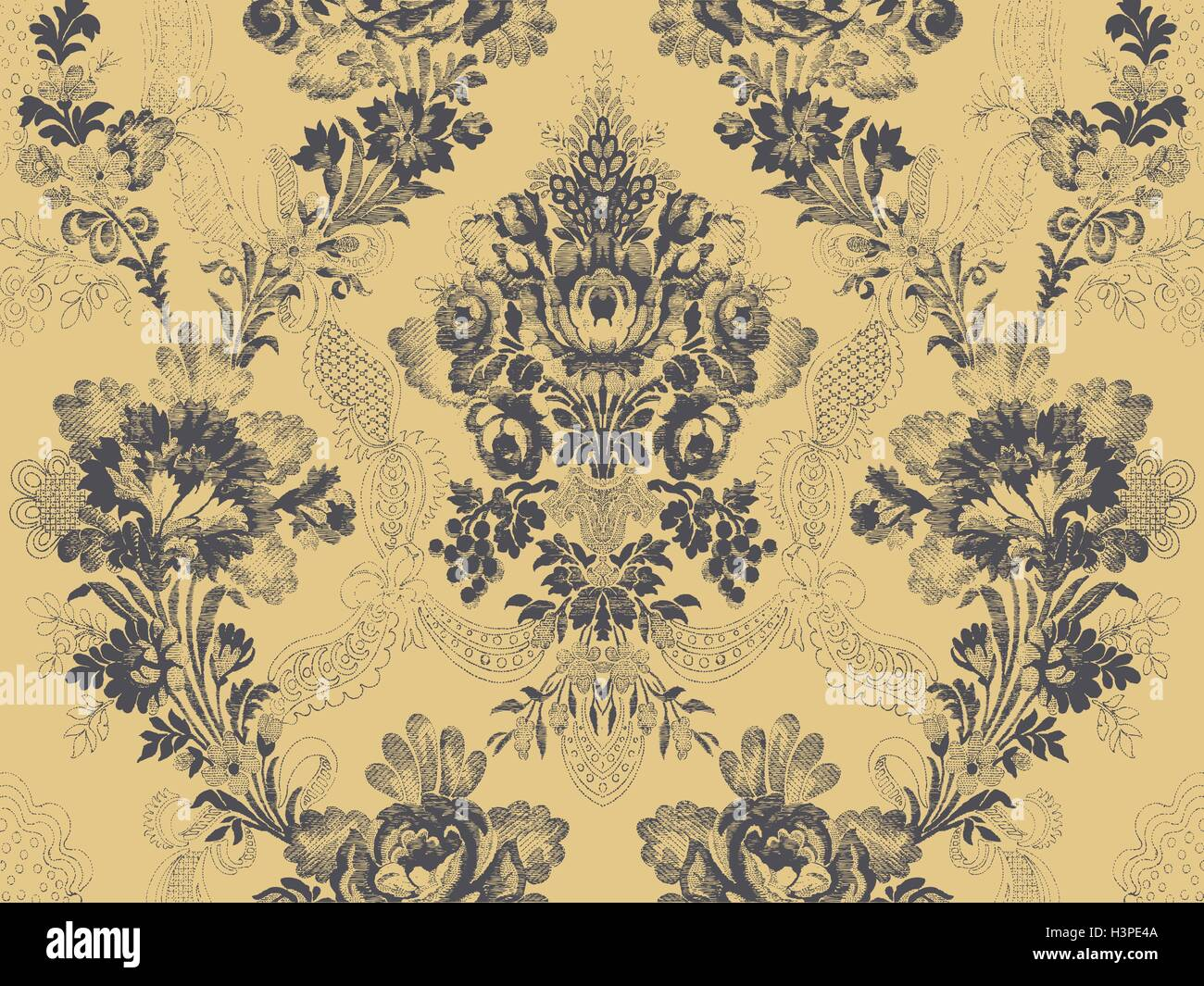 Victorian Floral Pattern Abstract Flower Rose Fashion Seamless Unusual Branch Ribbon Wallpaper Vintage Print Gray Luxury Back