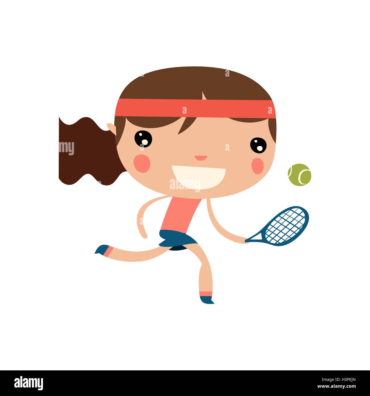 Cartoon Tennis Ball Racket Sport Stock Photos Cartoon Tennis Ball