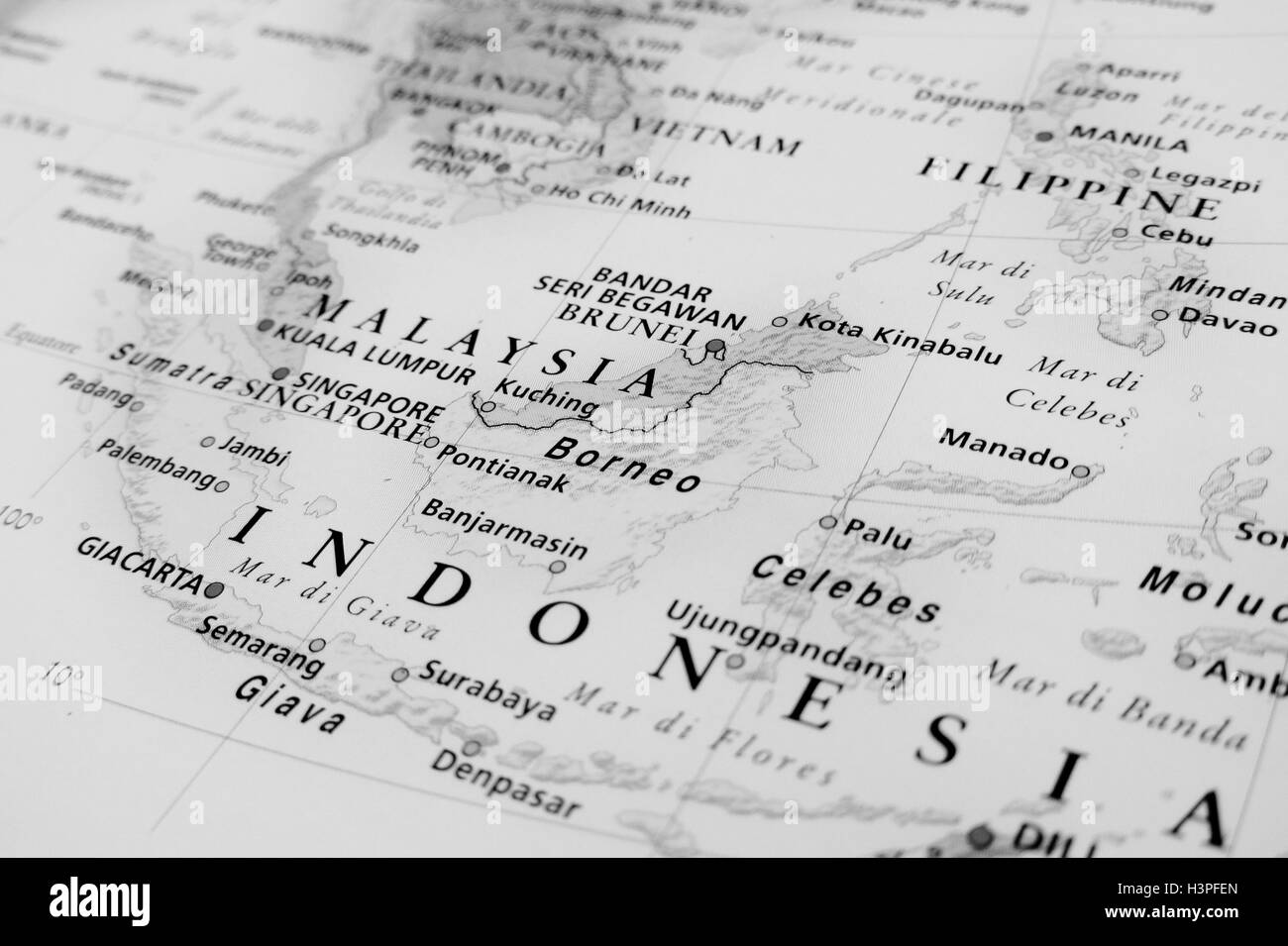 Malaysia: geographical view - Stock Image