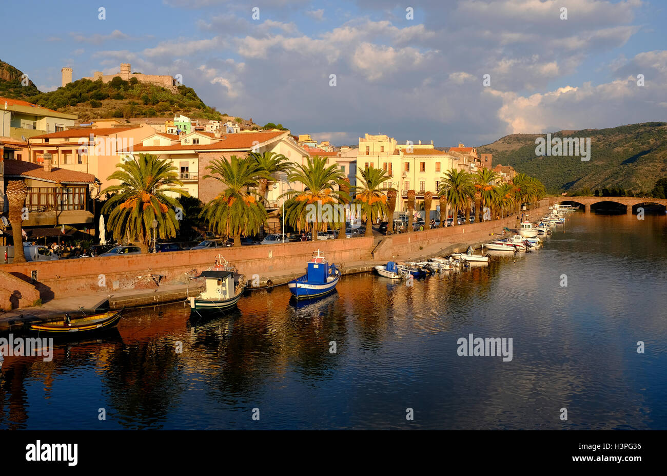 bosa, sardinia, italy Stock Photo