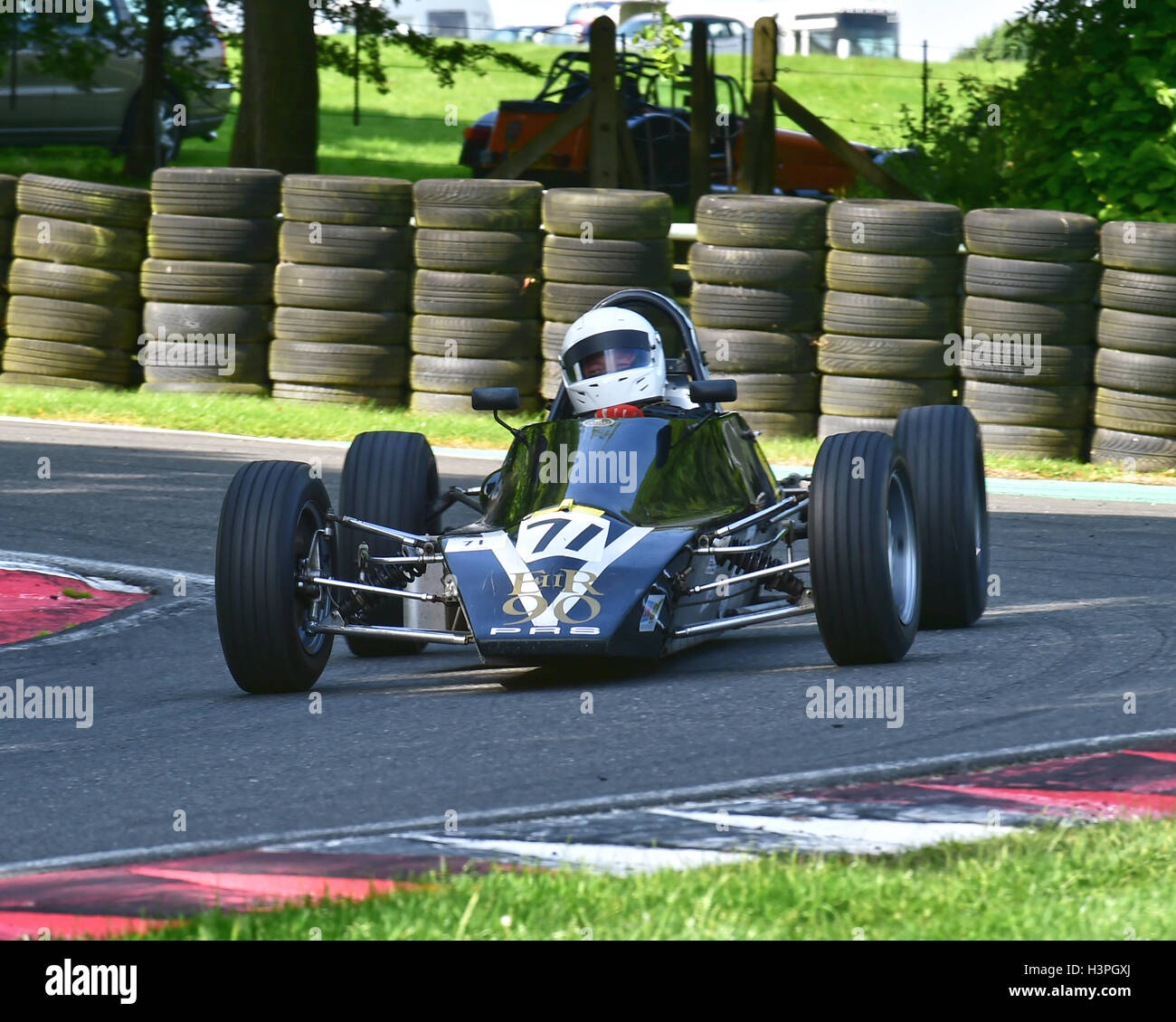Peter Hackett, PRS RH01, Classic Formula Ford 1600, VSCC, Shuttleworth trophy, Nuffield Trophy, Cadwell Park 24th - Stock Image