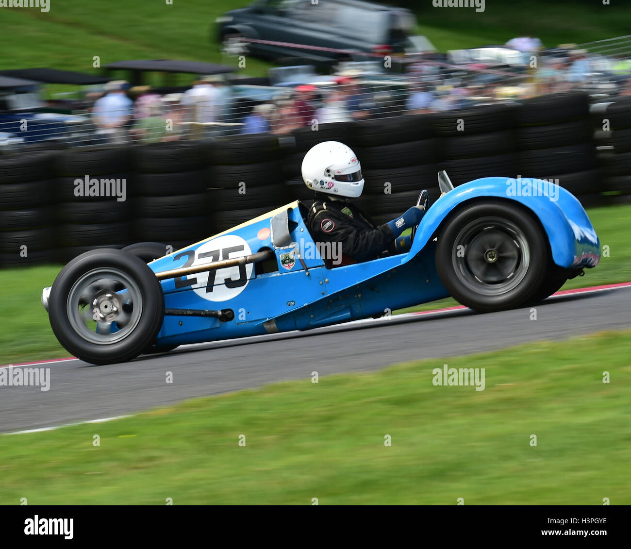 Richard Bishop Miller, Revis 500, F3 500cc Racing Cars, VSCC, Shuttleworth Trophy, Nuffield Trophy, Cadwell Park - Stock Image