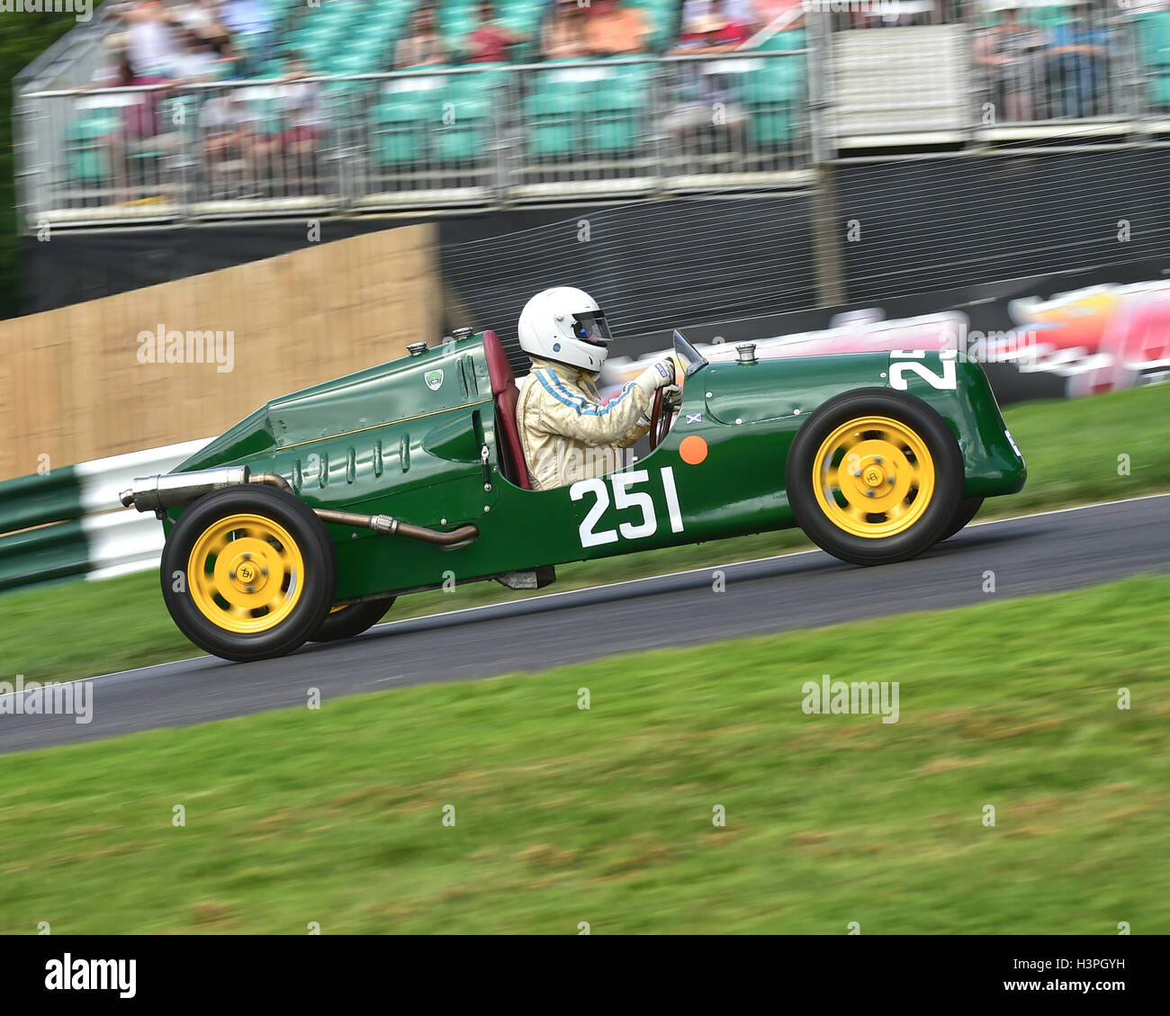 Alan Croft, JP Mk1, F3 500cc Racing Cars, VSCC, Shuttleworth Trophy, Nuffield Trophy, Cadwell Park 24th July 2016. - Stock Image