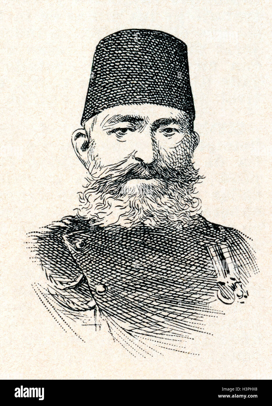 Ibrahim Edhem Pasha,1819–1893.  Ottoman statesman of Greek birth and Grand Vizier of the Ottoman Empire. - Stock Image