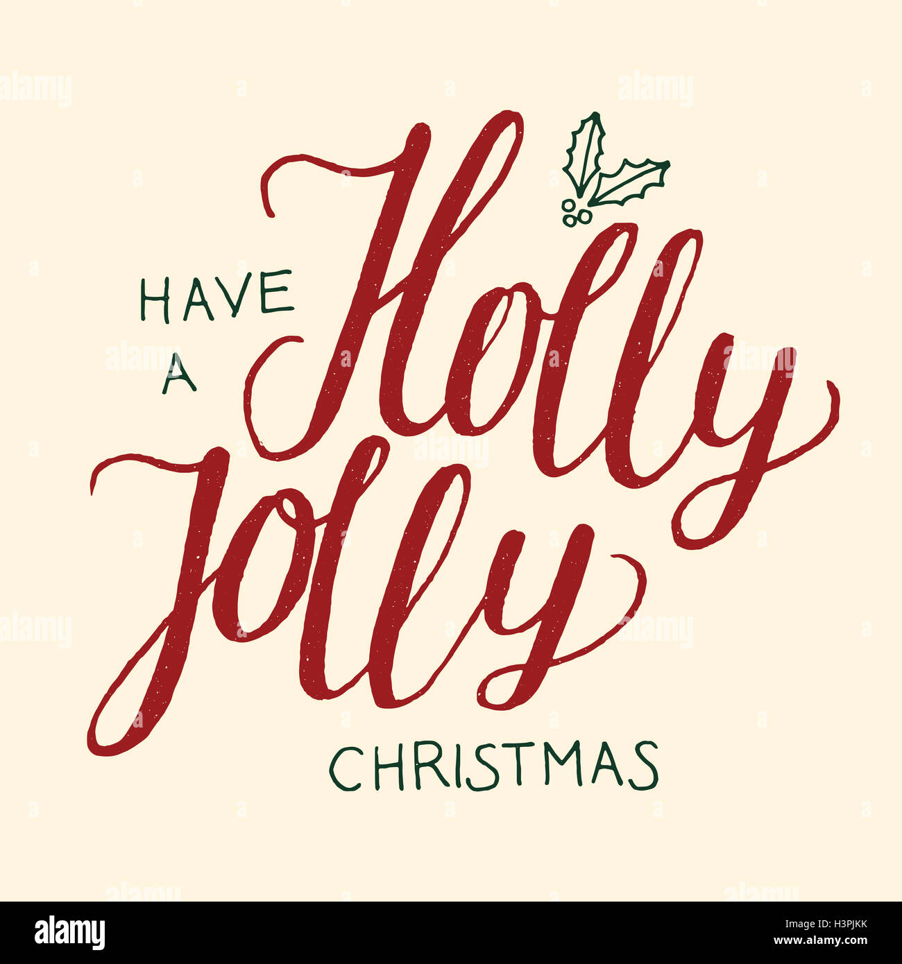 christmas calligraphy label vector. have a holly jolly christmas ...