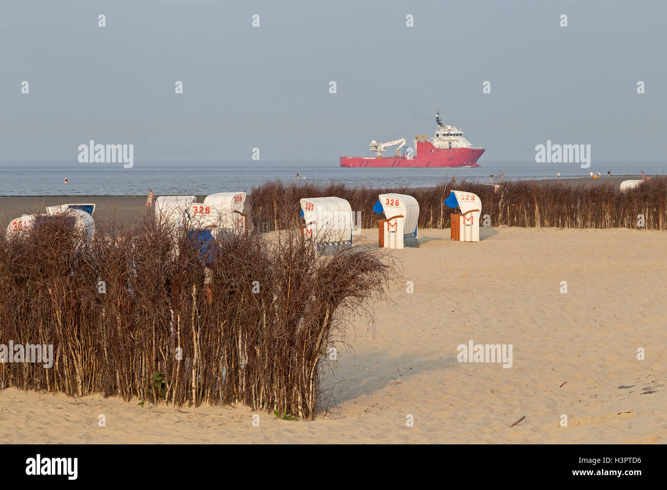 beach, Cuxhaven-Doese, Wurster Land, Lower Saxony, Germany - Stock Image