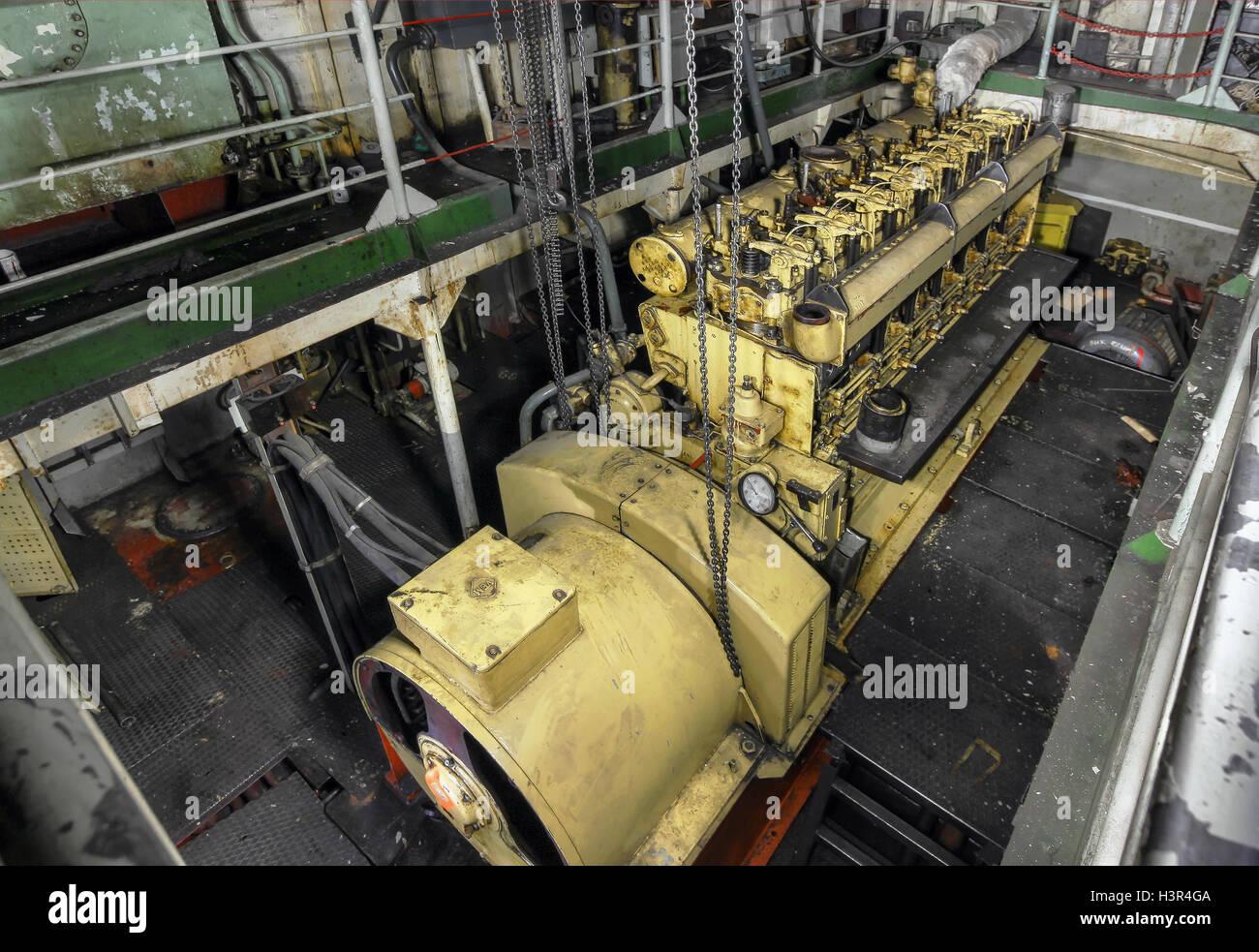Ship Engine Room Stock Photos & Ship Engine Room Stock