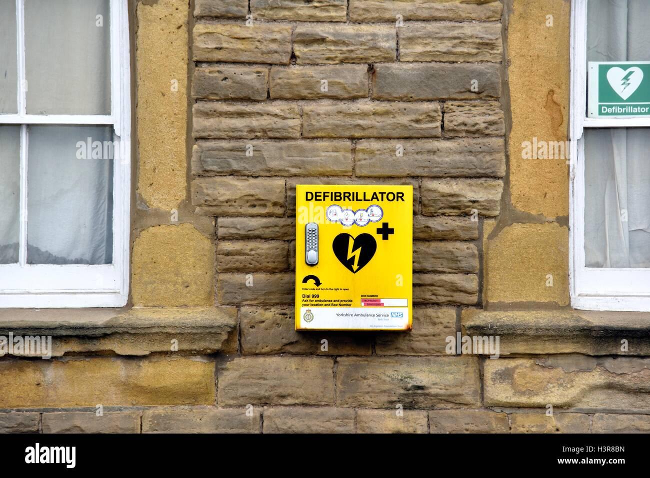 emergency Defibrillator. - Stock Image