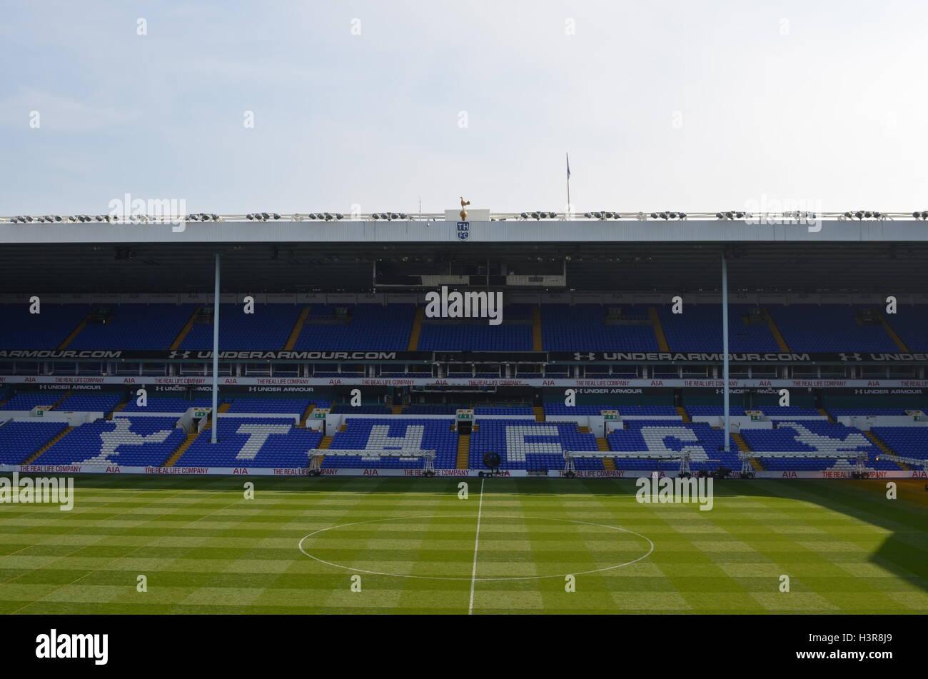 White Hart Lane, the football stadium of Tottenham Hotspur. - Stock Image