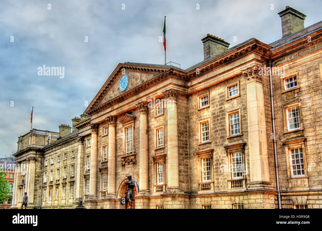 Entrance of Trinity College in Dublin - Ireland - Stock Image