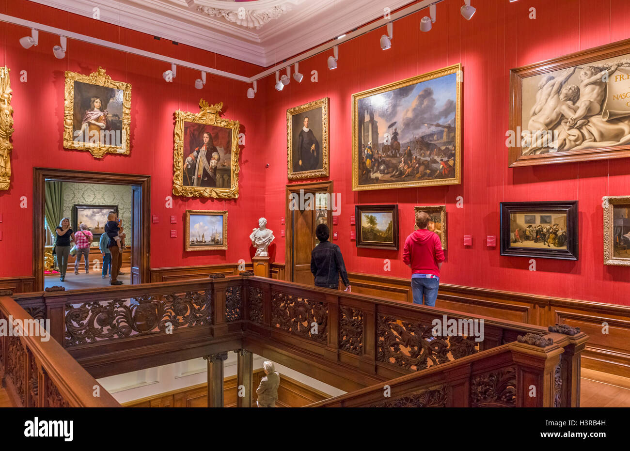 Interior of the Mauritshuis art museum, The Hague, Netherlands - Stock Image