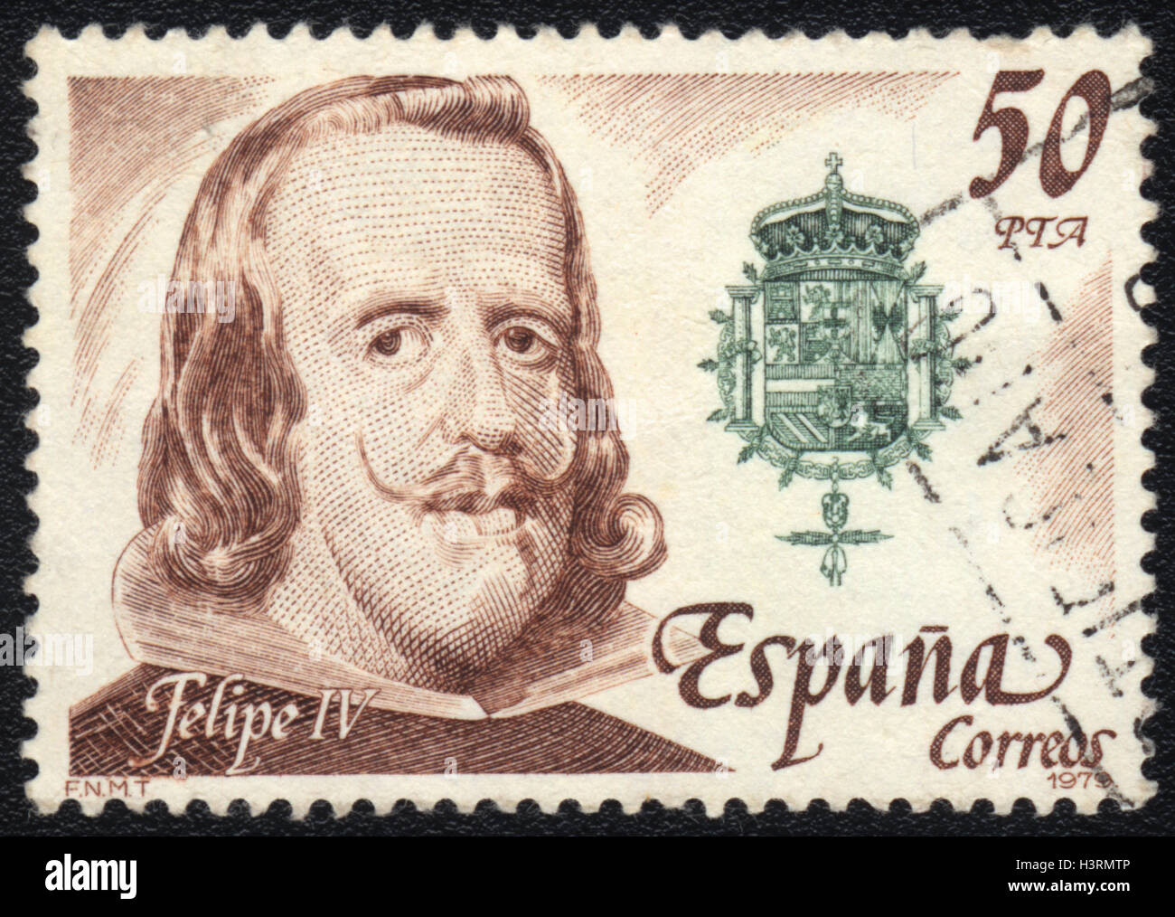 A Postage Stamp Printed In Spain Shows Portrait Of Philip IV 1979
