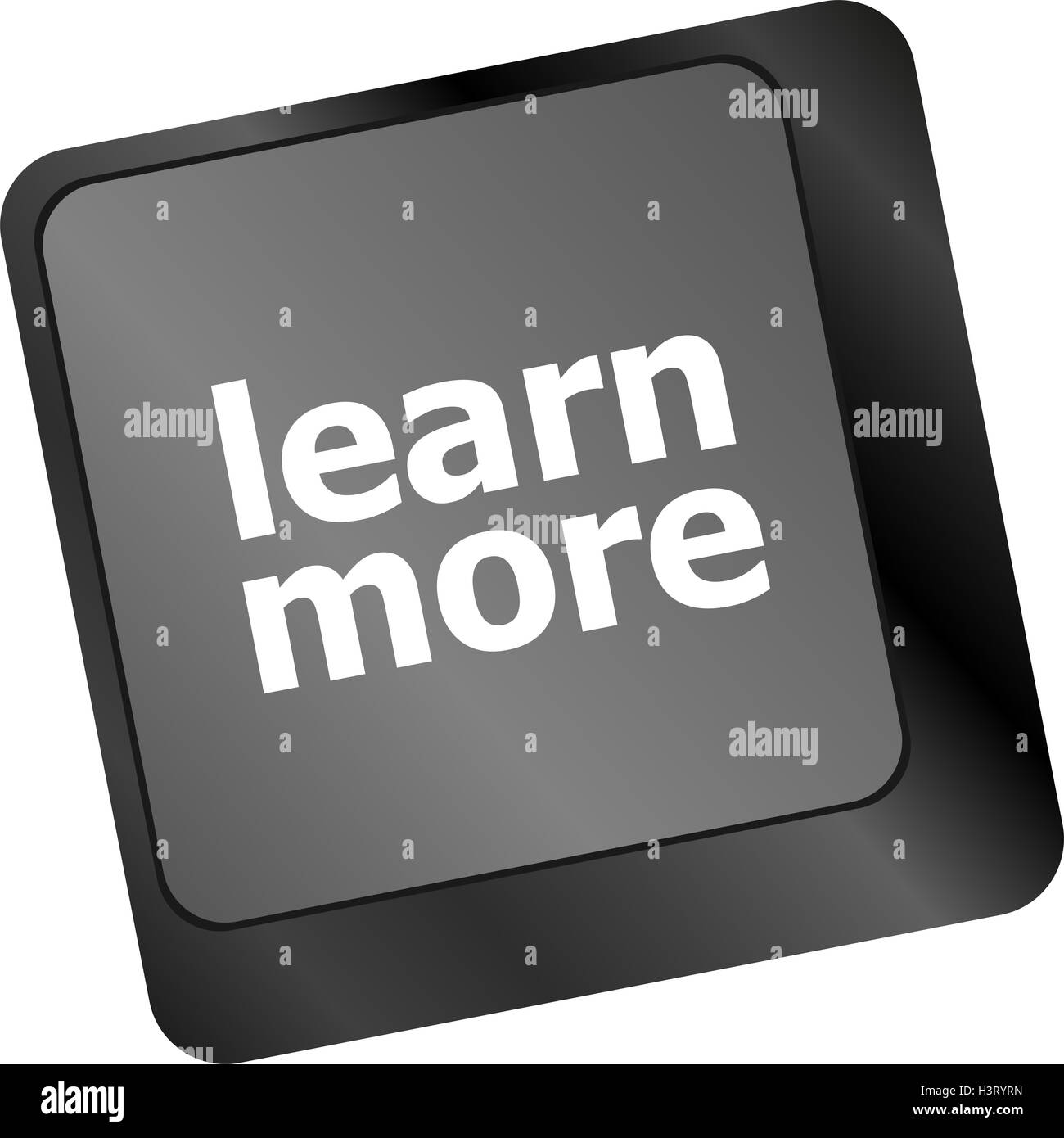 education concept with learn more button on computer keyboard - Stock Image