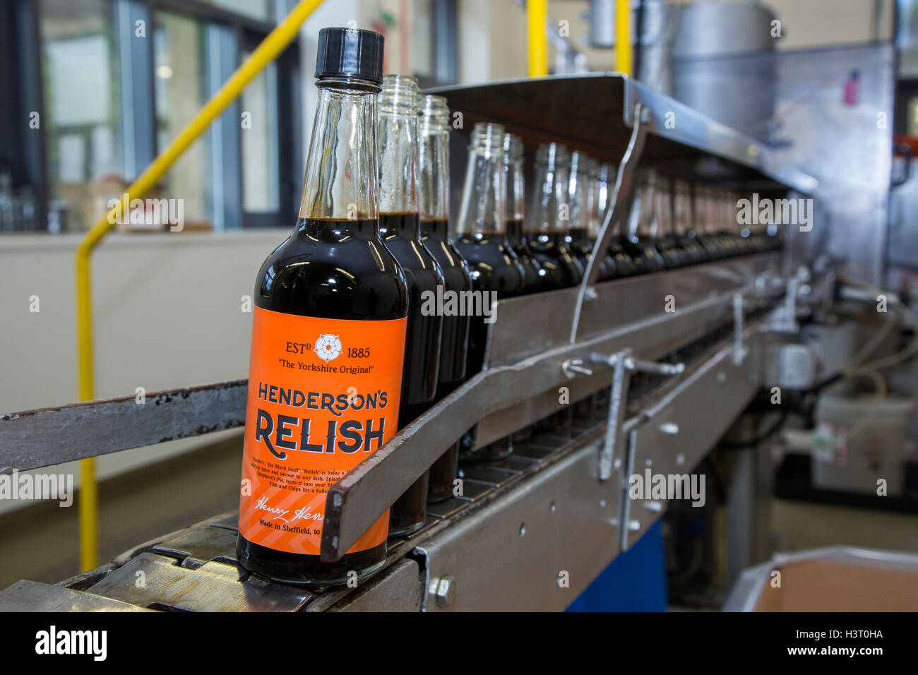 Hendersons Relish a condiment similar to Worcester Sauce relish has been produced in Sheffield, South Yorkshire - Stock Image