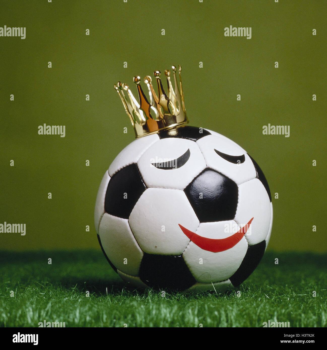 Football, crown, 'king of football', icon, material recording, world championship, world championship, EM, - Stock Image