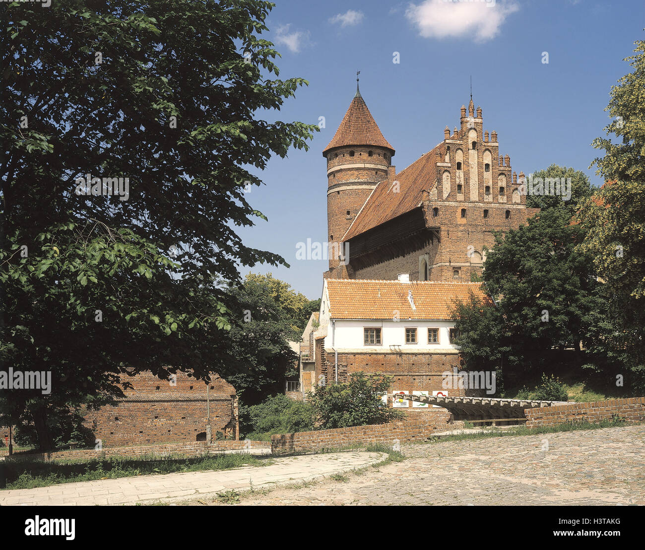 Poland, Masuria, Olsztyn, Allenstein, town, order castle, detail, Europe, Rzeczpospolita Polska, north-east Pole, Stock Photo