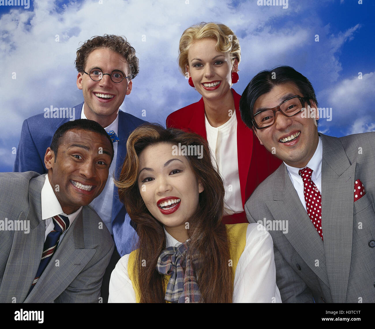 Business people, different nationality mb 160 A5 - Stock Image