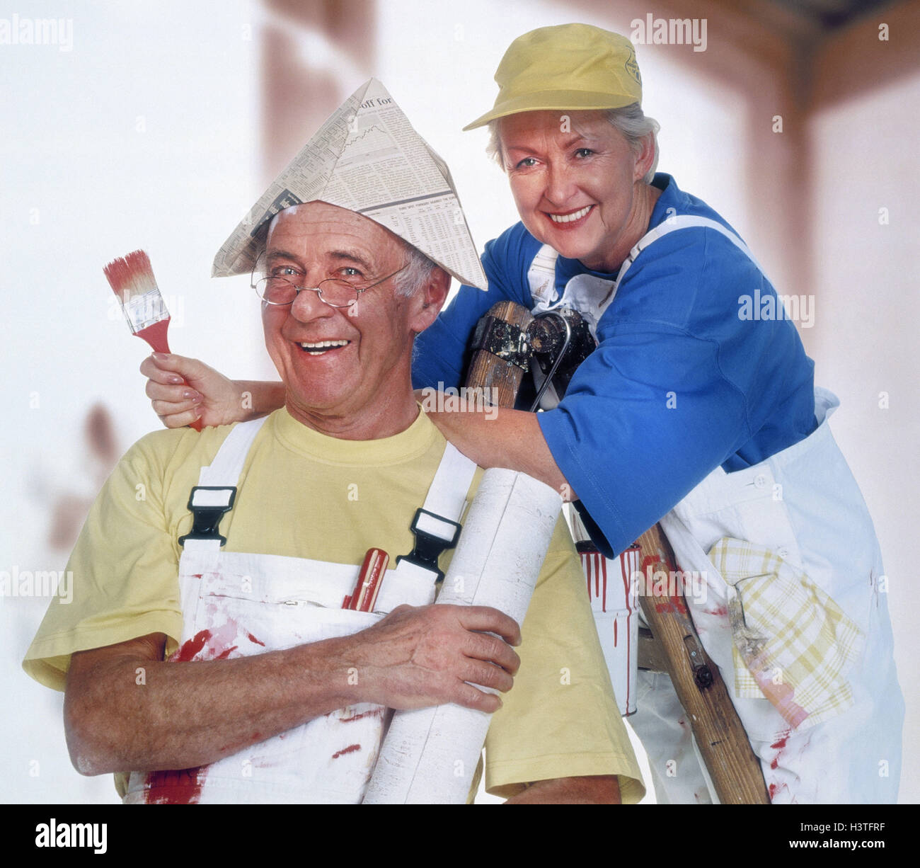 Do it yourself senior couple renovation colour conductor stand do it yourself senior couple renovation colour conductor stand laugh happy paint senior studio inside man woman old renovate wallpaper solutioingenieria Gallery