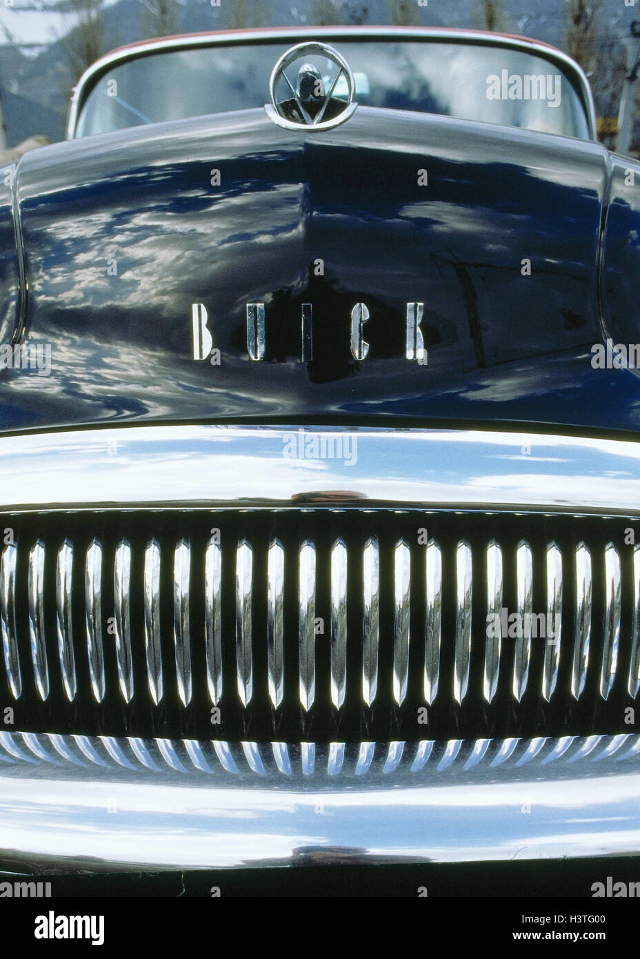 Car, old-timer, 'Buick', the 50s, front view, radiator, saloon, street cruiser, kW, vehicle, - Stock Image