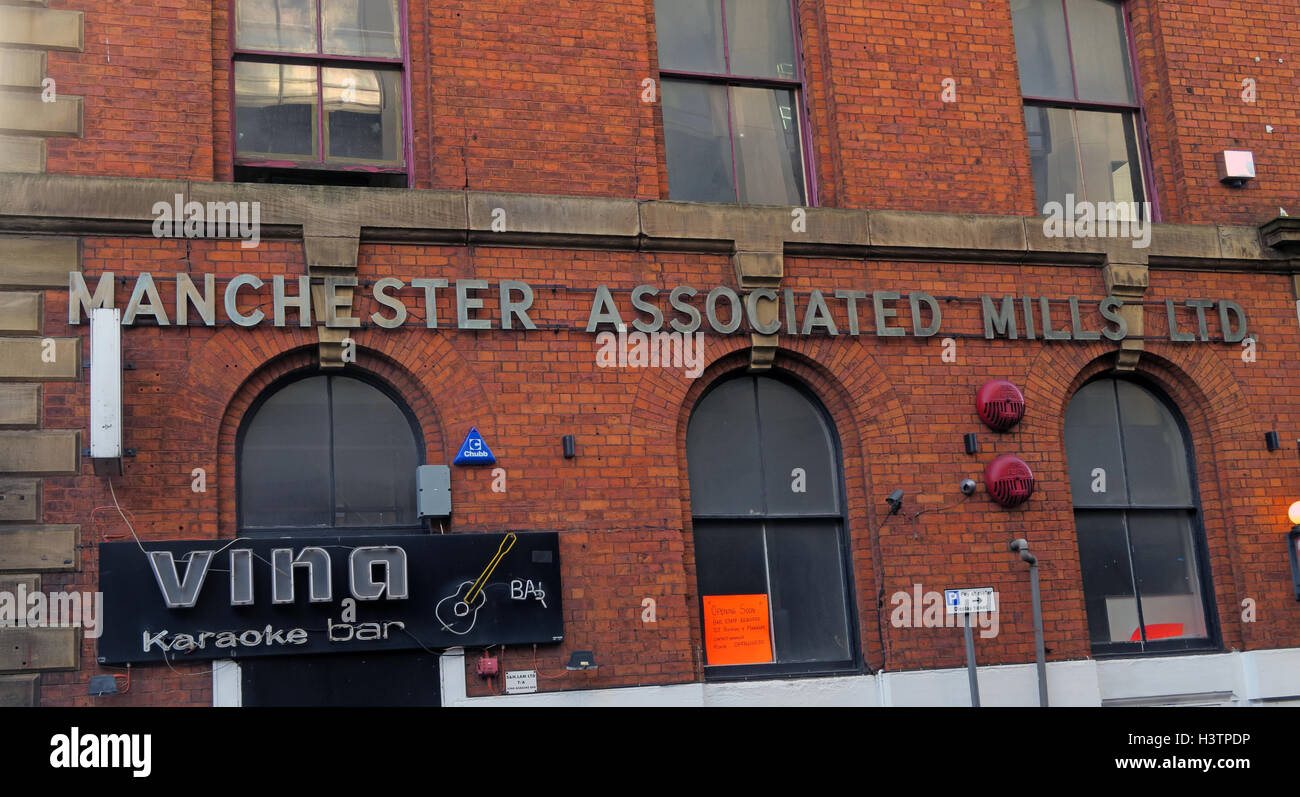 Manchester Associated Mills Building,Nicholas St,Chinatown Warehouse fire England - Rough sleepers killed - Stock Image