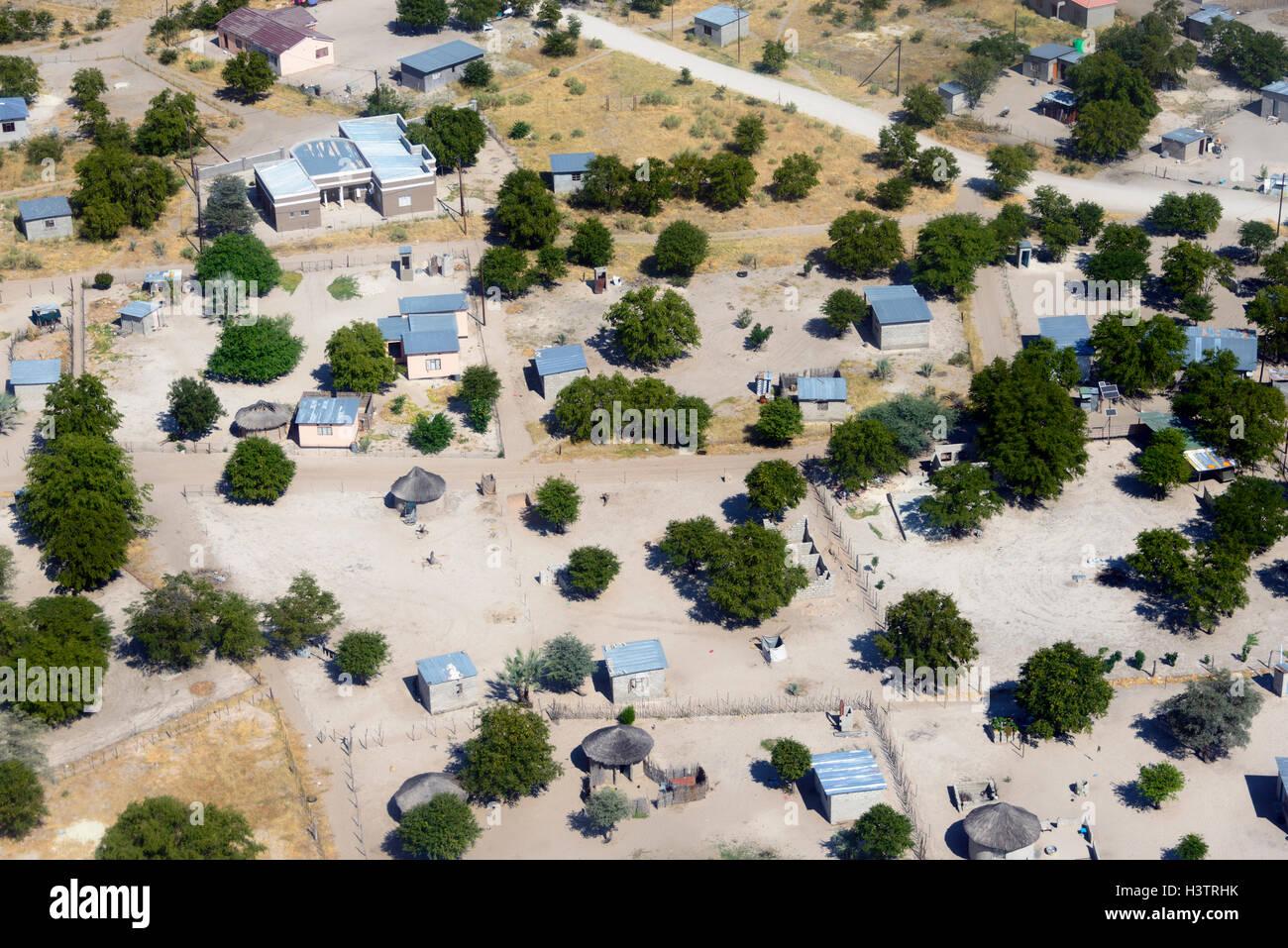 Aerial View, Maun, Botswana - Stock Image