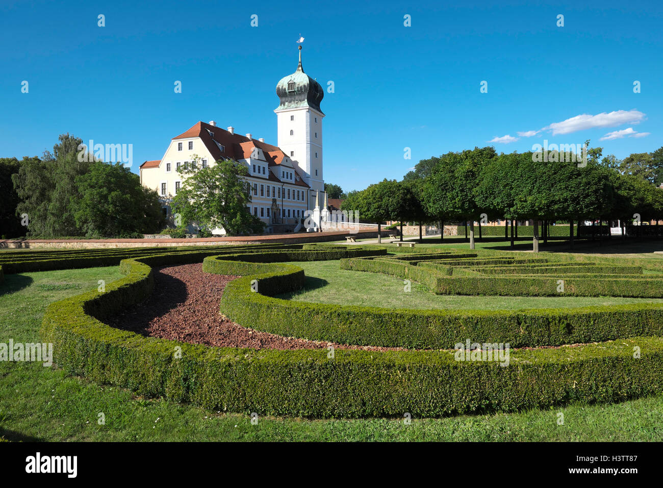 Baroque Castle Delitzsch Delitzsch Saxony Germany Stock Photo