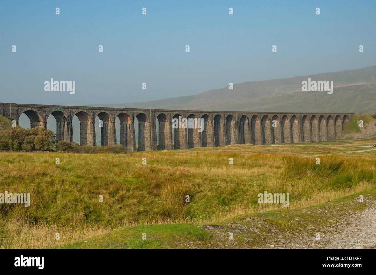 Ribblehead Viaduct, Yorkshire, England - Stock Image