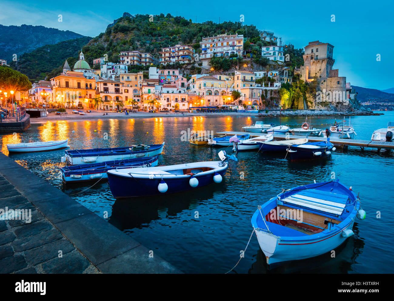 Cetara is a town and comune in the province of Salerno in the Campania region of south-western Italy. - Stock Image