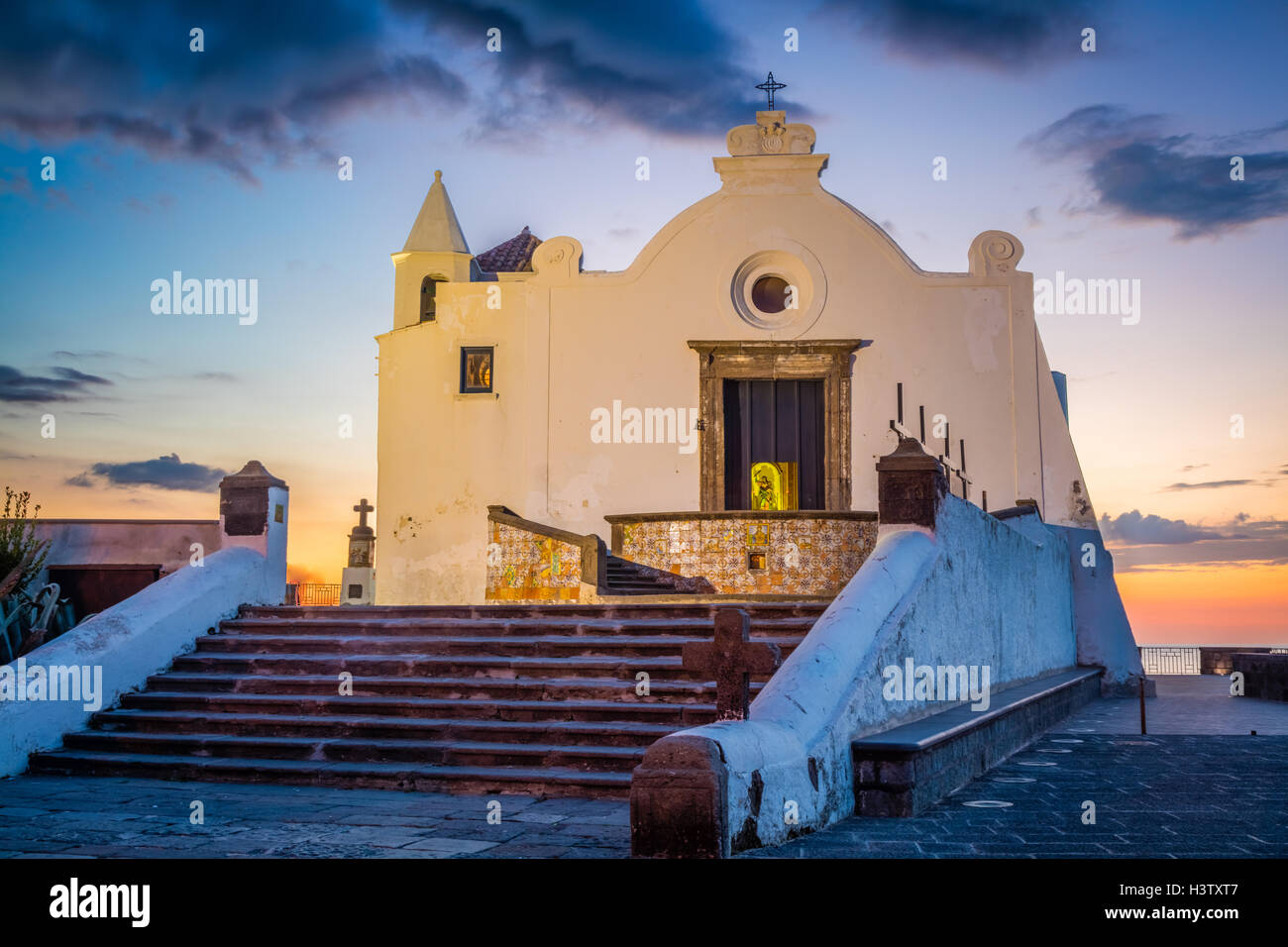 The church Chiesa del Soccorso in Forio on the island of Ischia, Italy. Stock Photo