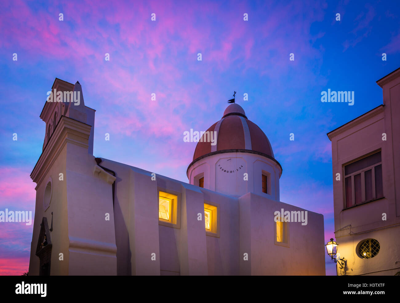 Chiesa San Gaetano in Forio. Forio (known also as Forio of Ischia) is a town and comune on Ischia, Italy. - Stock Image