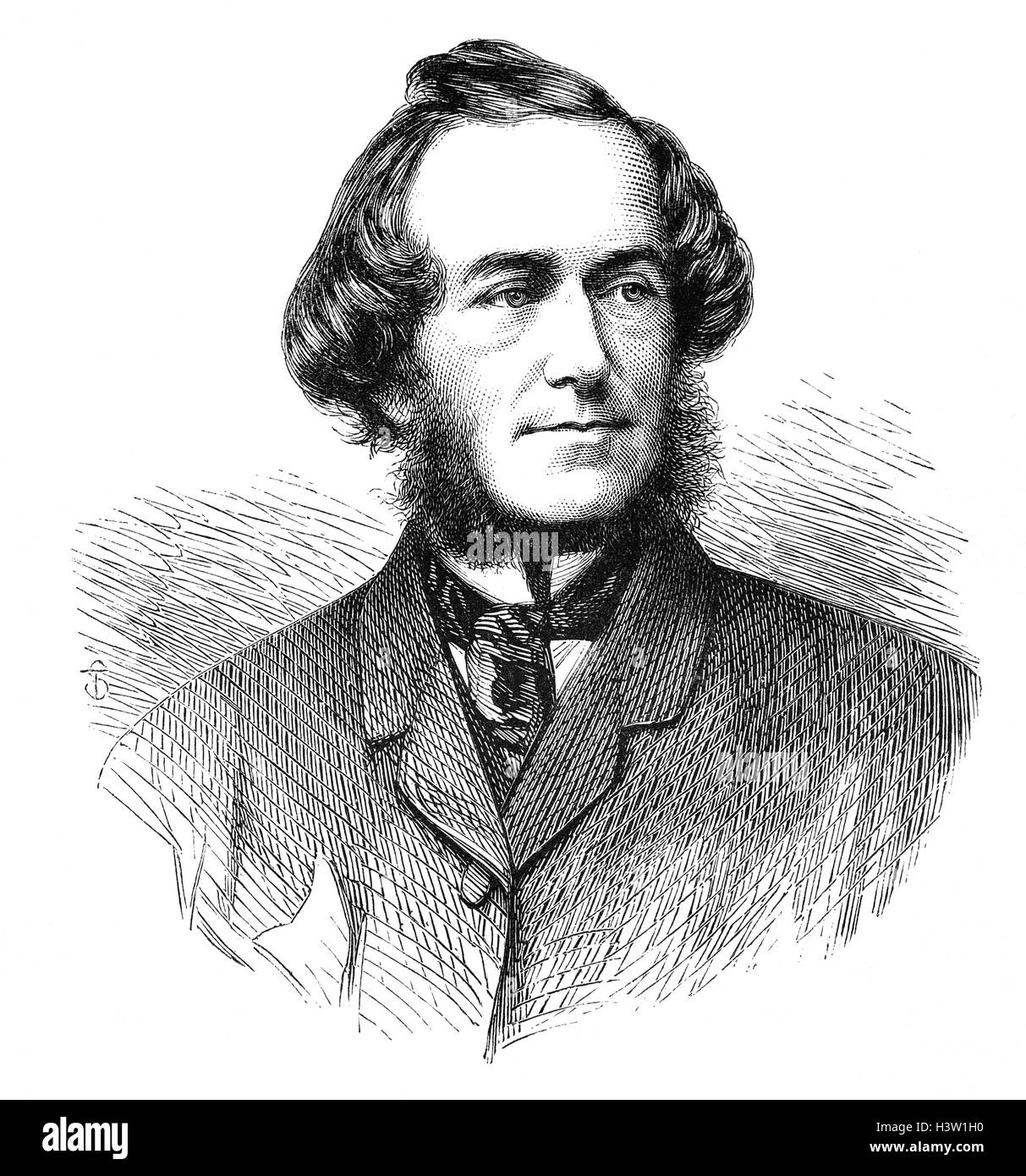 John Leech (1817 – 1864) was an English caricaturist and illustrator best known for his work for Punch, a humorous - Stock Image