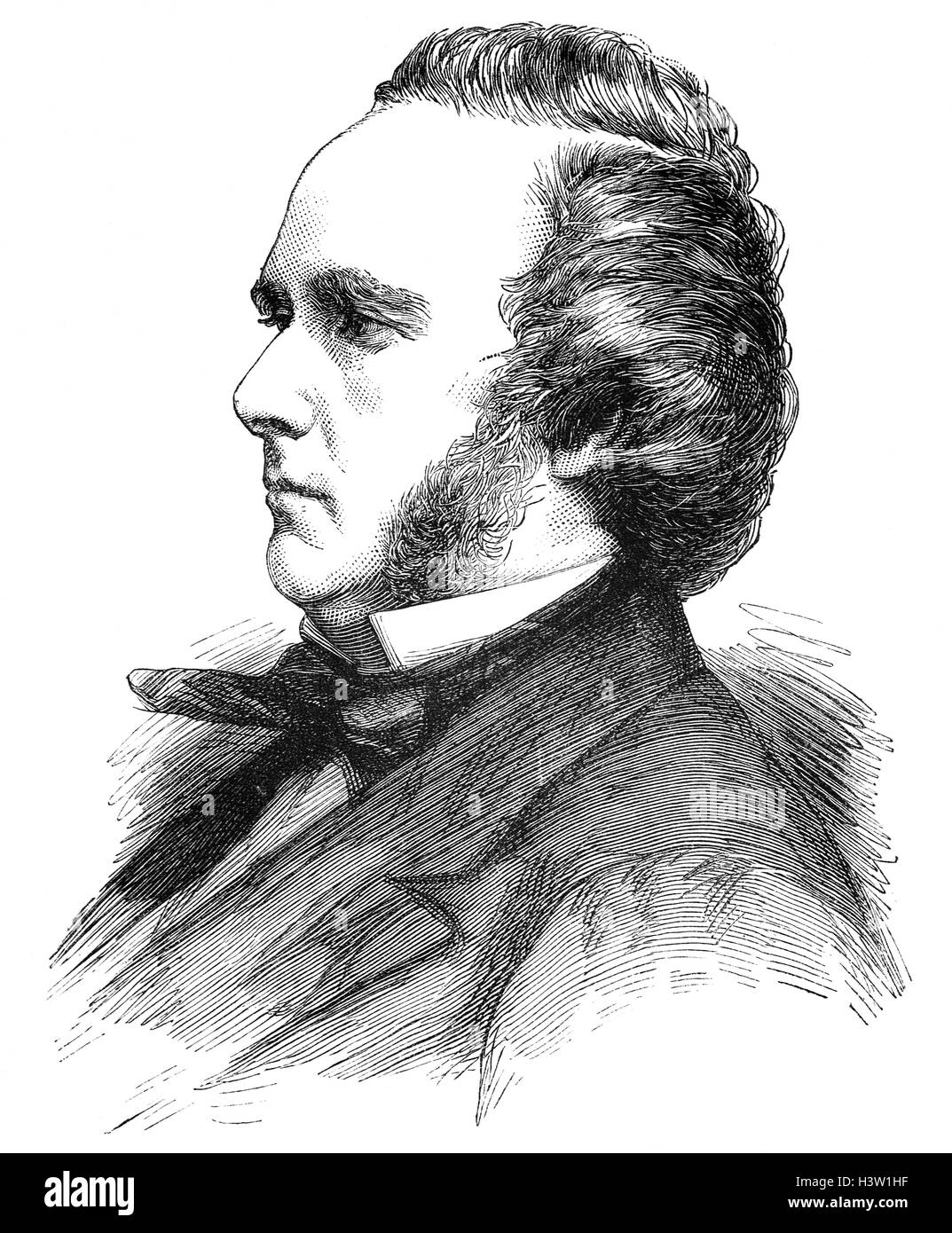 George John Douglas Campbell, 8th Duke of Argyll, (1823 – 1900), was a Scottish peer and Liberal politician as well - Stock Image