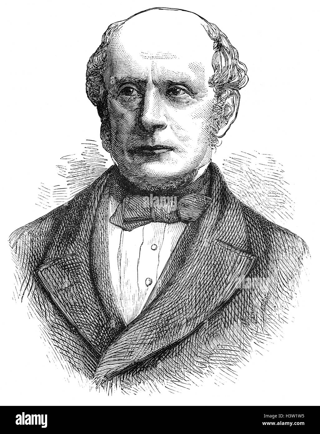 Charles Francis Adams Sr. (1807 – 1886) was an American historical editor, politician and diplomat.  The son of - Stock Image