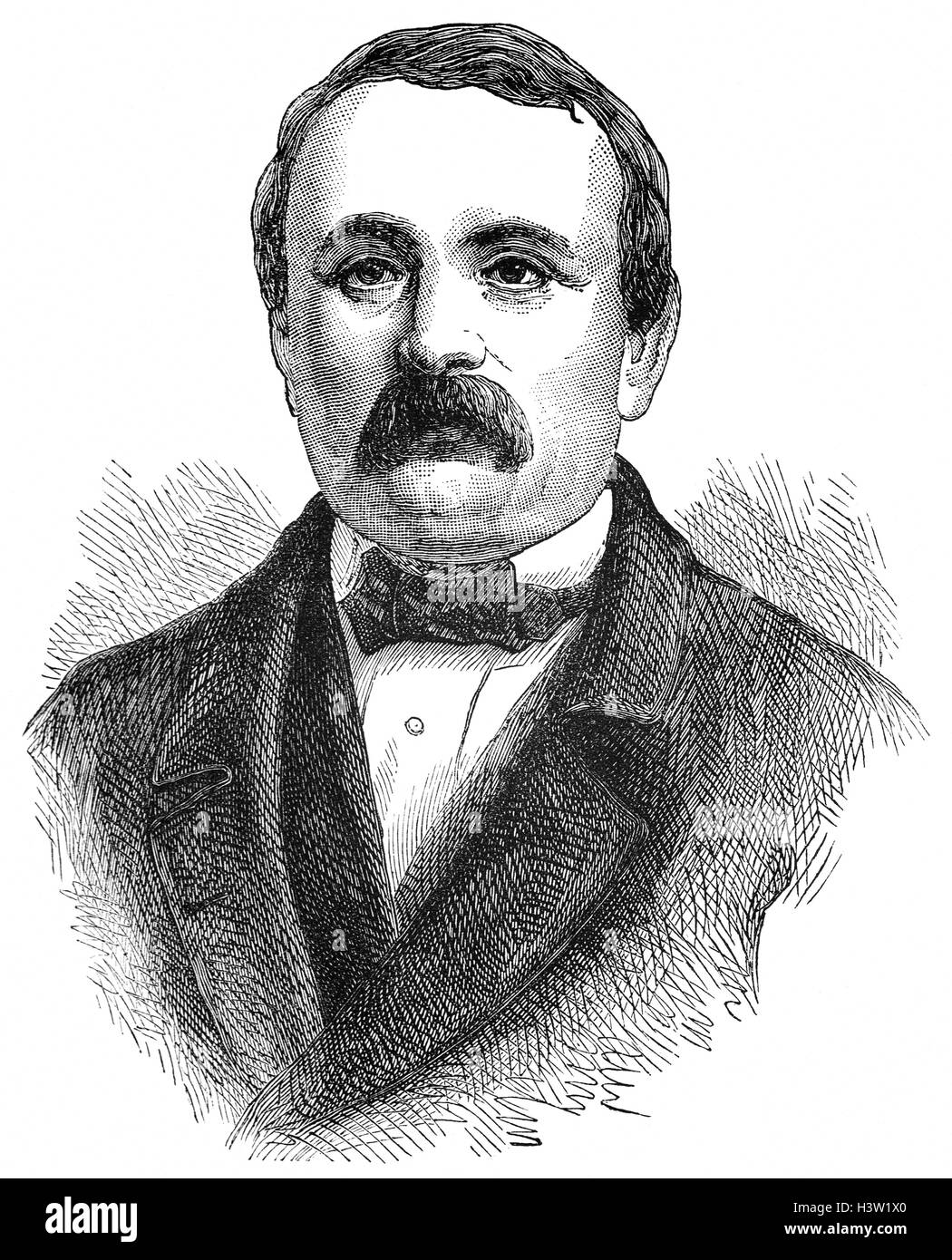Jakob Stämpfli (1820 – 1879) was a Swiss politician and member of the Swiss Federal Council (1854-1863). He - Stock Image