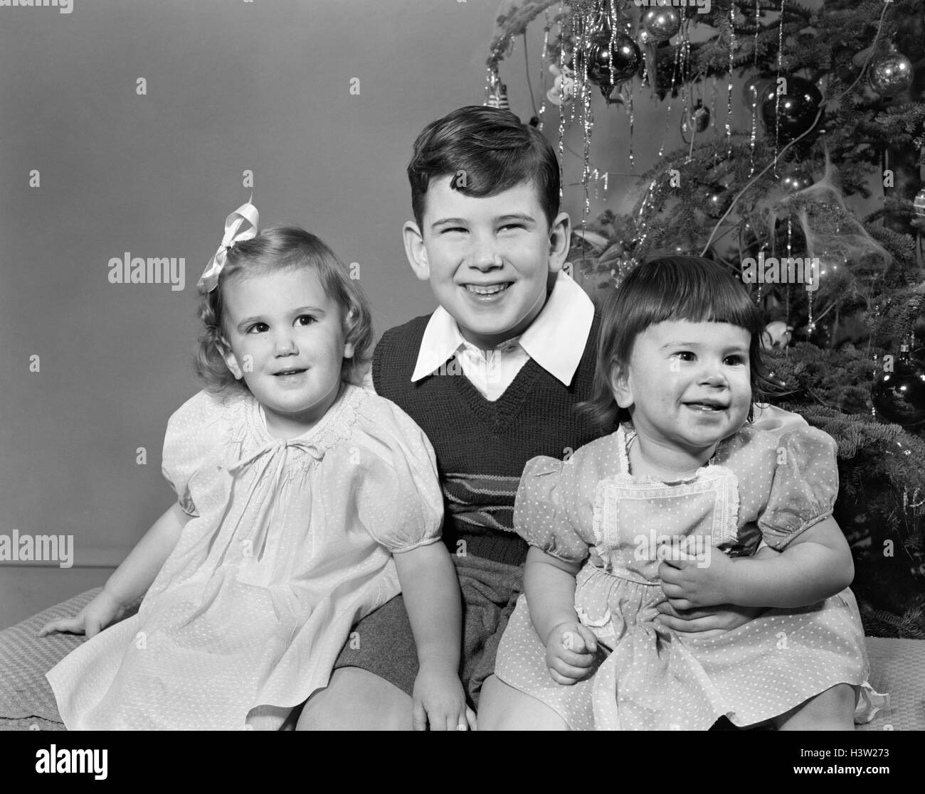 1950s Christmas Children Stock Photos Amp 1950s Christmas