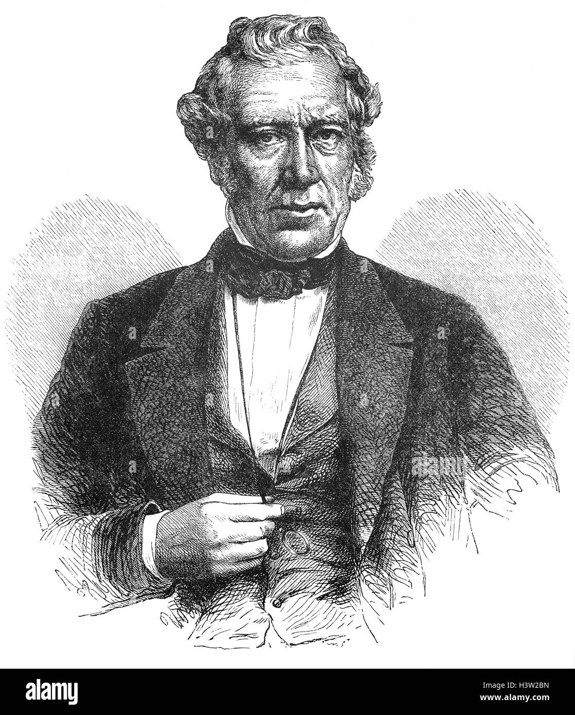 Sir William Fairbairn, 1st Baronet of Ardwick (1789 – 1874) was a Scottish civil engineer and  structural engineer. - Stock Image