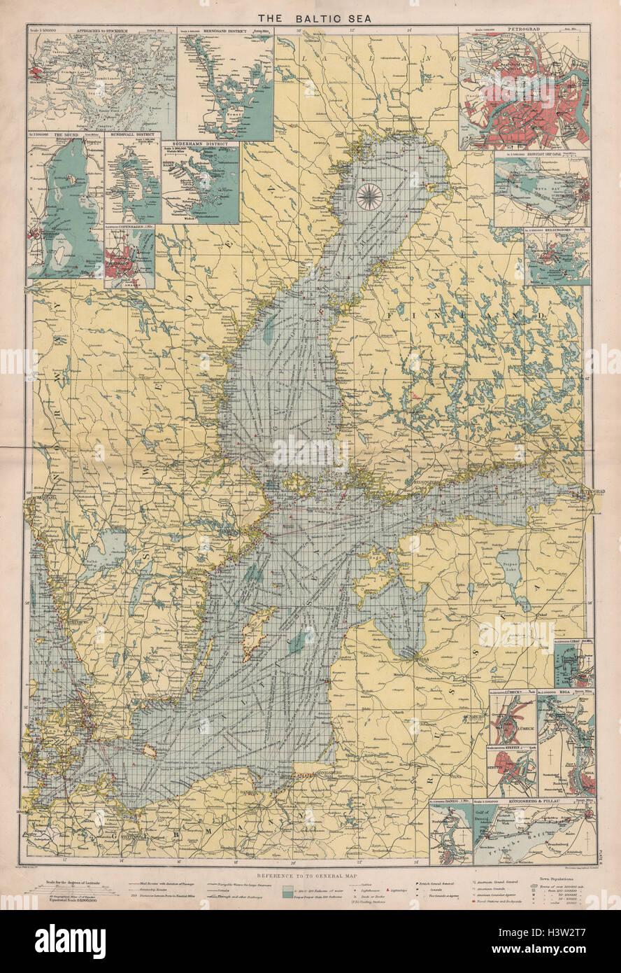 Baltic Sea Map Stock Photos & Baltic Sea Map Stock Images - Alamy