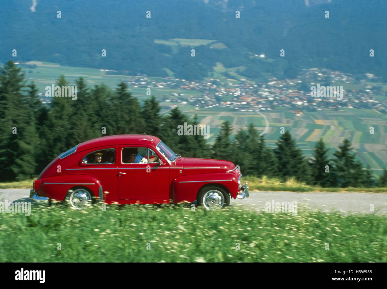 Car, old-timer, red Volvo PU 544 (year construction in 1965 ...