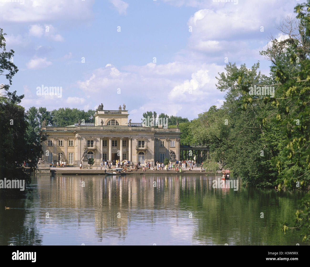 Poland, Warsaw, palace Lazienki, the classicism moated castle the last Polish king - Stock Image