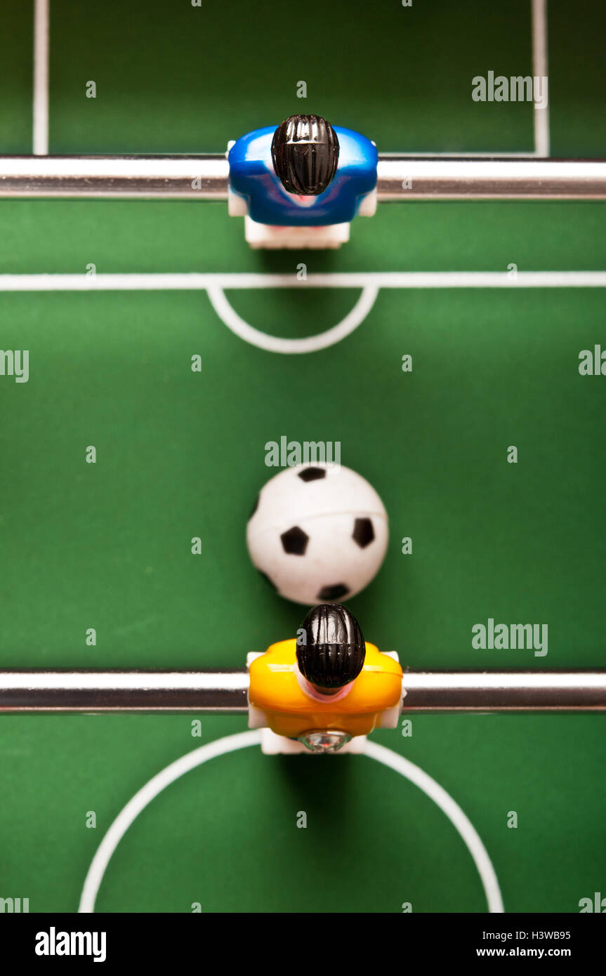 table soccer, above view - Stock Image