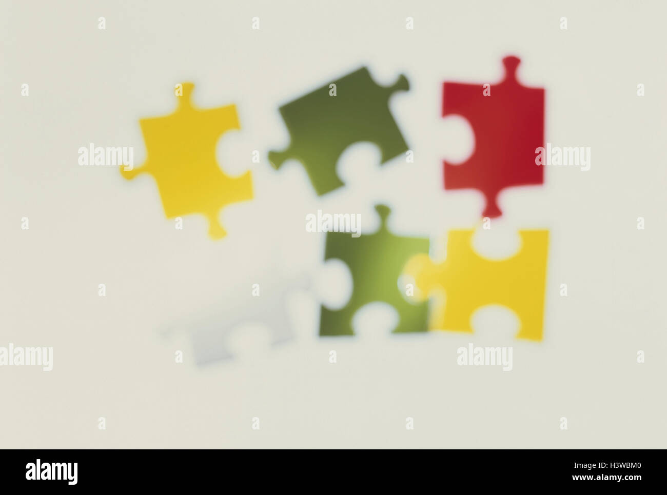 Jigsaw Puzzle Parts Brightly Blur Cuts Cut Outs