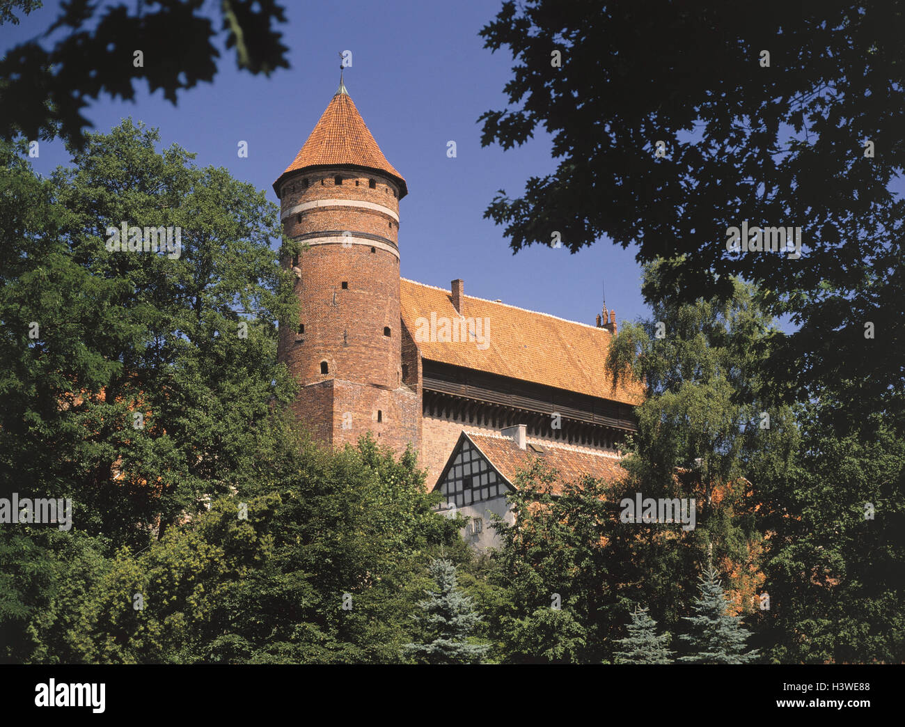 Poland, Masuria, Olsztyn, Allenstein, order castle, detail, Europe, Rzeczpospolita Polska, north-east Pole, Mazury, Stock Photo